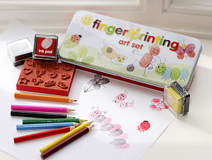 Finger Printing Art Set - stamps & inkpads