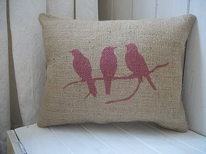 Bird On Branch Cushion - bedroom