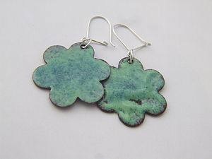 A Touch Of Glass - Enamelled Earrings