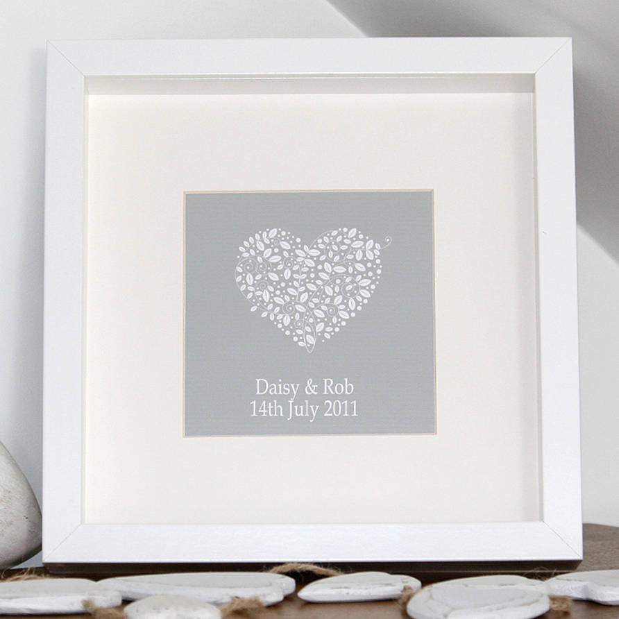 Personalised Wedding Anniversary Canvas Print