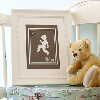 Personalised Jumping Boy Silhouette Print