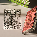 Personalised Owl/Circus/Ship Book Stamp