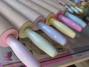 Handpainted Large Dotty Rolling Pins - kitchen accessories
