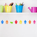 Pack Of Robot Wall Stickers