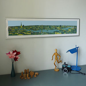 London Skyline Southbank Print