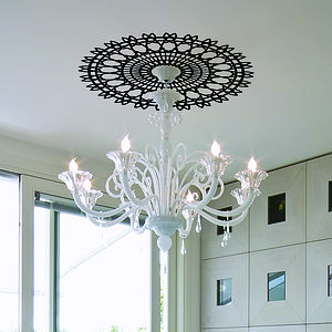 Spiro Ceiling Rose Sticker - wall stickers