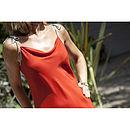Resort Coral Red Silk Dress