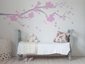 Cherry Blossom Wall Sticker - decorative accessories