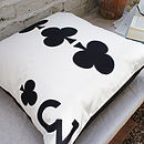 3 Clubs - Playing Card Cushion 50x50