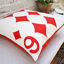 6 Diamonds - Playing Card Cushion 50x50