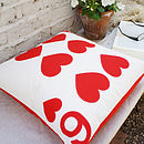 6 Hearts - Playing Card Cushion 50x50