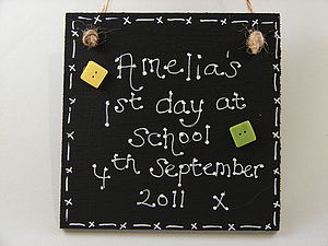First Day At School Blackboard Sign