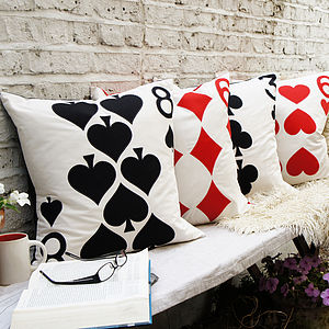 Playing Card Cushion Cover - bedroom