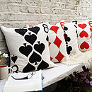 Applique Playing Card Cushion Cover