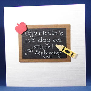 First Day At School Card - summer sale