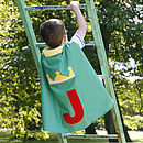 Green personalised prince cape