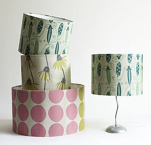 Irish Linen Hand Printed Lampshades - lamp shades