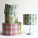 Irish Linen Hand Printed Lampshades
