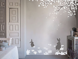 Bunny Meadow - wall stickers