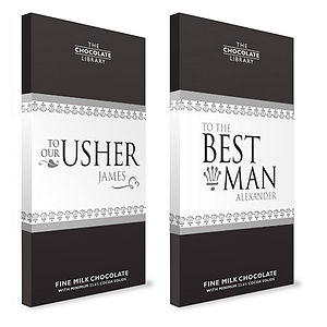 Wedding Chocolate Bars - For The Boys - best man & usher gifts