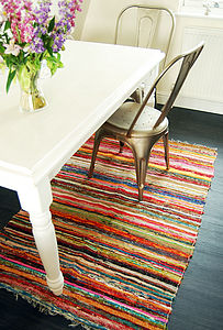 Hand Woven Rug - dining room