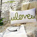 Love - Lime Green - Comment Cushion - 50x30