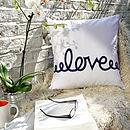 Love - Midnight Blue - Comment Cushion 50x50