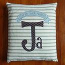 Boy's Personalised Name Cushion