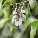 Silver amazonite and labradorite heidi earrings