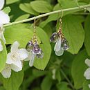 Gold aqua and amethyst heidi earrings