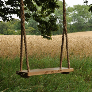 Personalised Oak Garden Tree Swing - 5th anniversary: wood