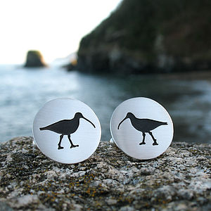 Silver Sea Bird Cufflinks