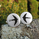 Silver Swallow Cufflinks