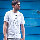 Men's Typographic Retro Eye Test T Shirt