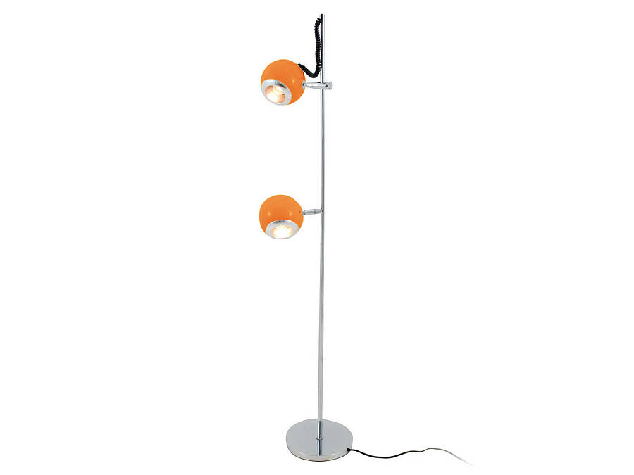 Retro orange floor lamp by i love retro for Retro floor reading lamp
