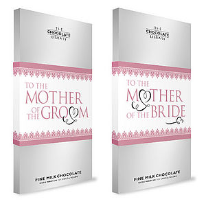 Silver Wedding Chocolate Bars For The Girls - wedding gifts for mothers
