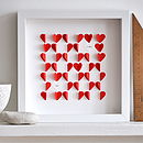 Personalised Love Hearts Framed Picture