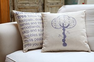 Miss Peabody Tree Cushion