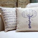 Miss Peabody Tree Cushion