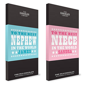 Nephew And Niece Chocolate Bars - chocolates & truffles
