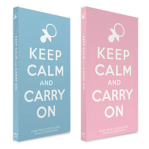 Keep Calm - New Baby Chocolate Bar - chocolates & truffles