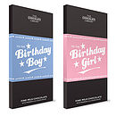 Birthday Girl & Boy Chocolate Bars