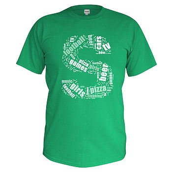 Men's Personalised Word Cloud T Shirt