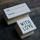 'With Love' And 'To… From' Stamp Set