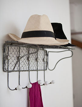 Wire Coat And Hat Rack