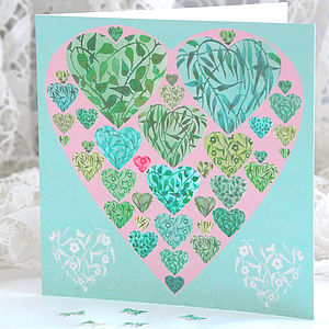 Verdant Hearts Card - valentine's cards