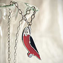Red Parrot Chain Necklace