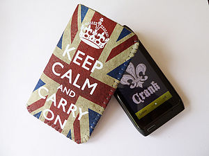 Grunge Union Jack Keep Calm Phone Case - phone covers & cases