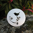 Silver Round Bird Brooch