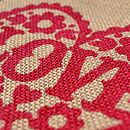 Mini 'Love' Bag Print Detail